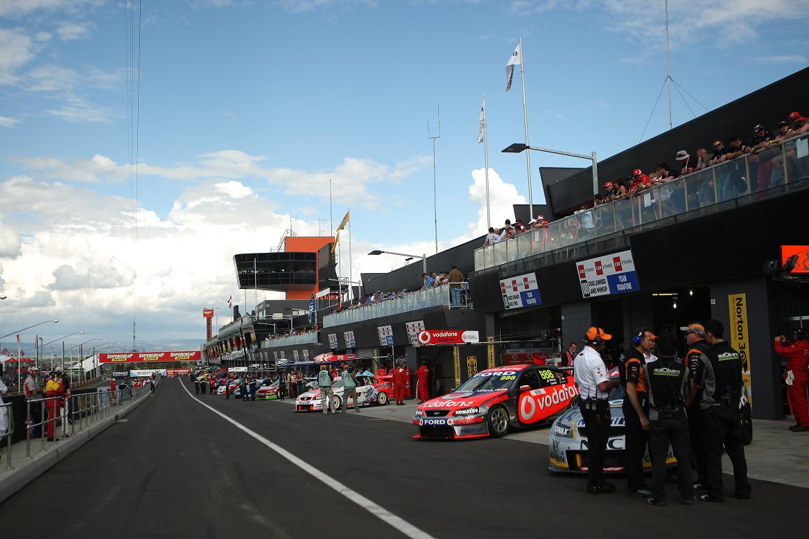 Pit Straight during Race Week